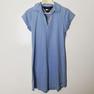 2000s Tommy Hilfiger baby blue dress size XL